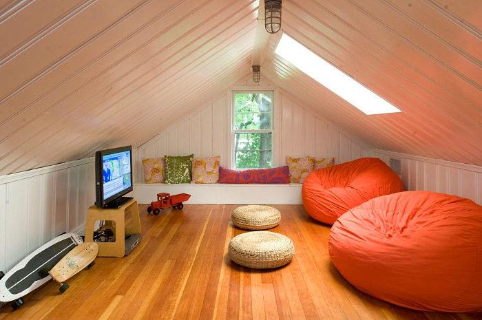 Комната на чердак для подростка